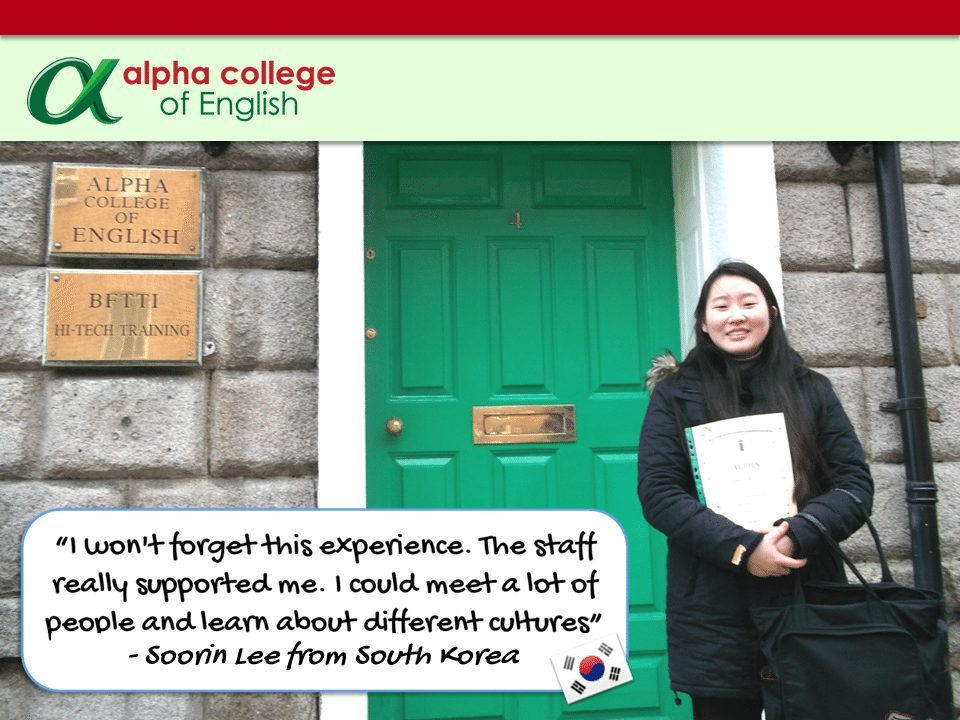 """I won't forget this experience. The staff really supported me. I could meet a lot of people and learn about different cultures."" - Soorin Lee from South Korea"
