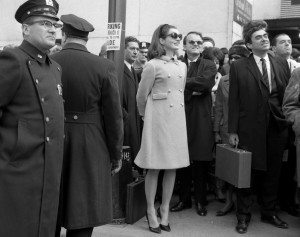 President JFK's wife Jackie watching the parade. President John F Kennedy was Irish-American. © nydailynews.com