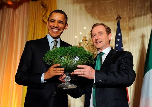 President Barack Obama and Taoiseach Enda Kenny