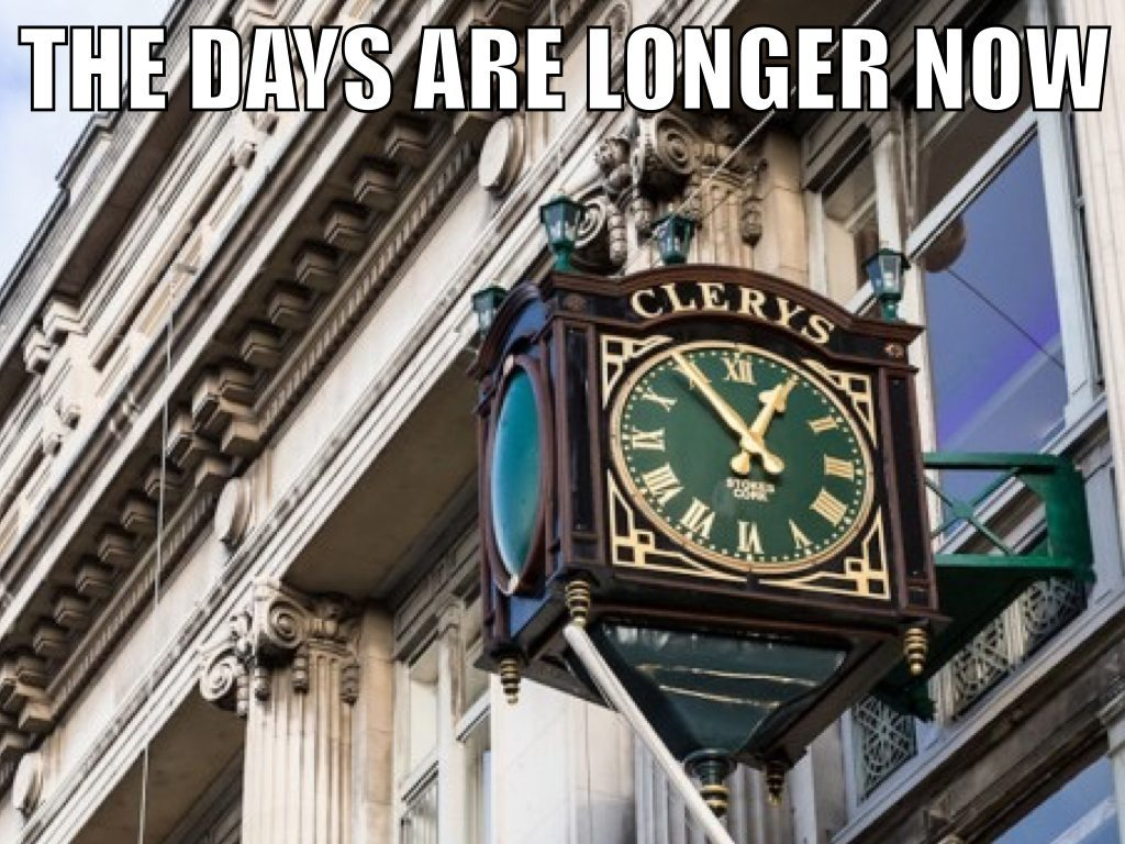 the days are longer now