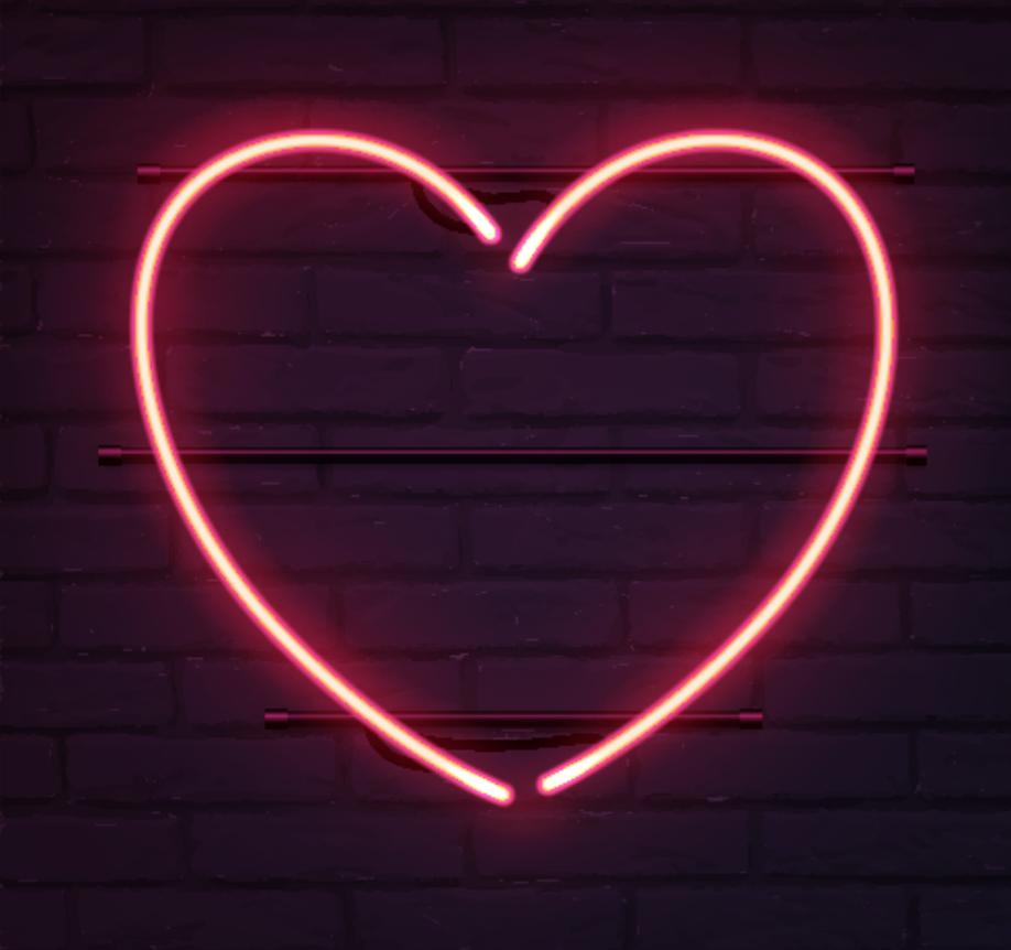 Neon heart.
